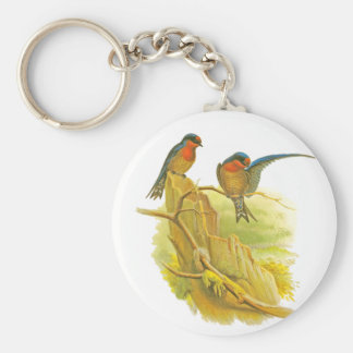 Pacific Swallow Basic Round Button Key Ring