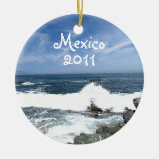 Pacific Taking Over; Mexico Souvenir Round Ceramic Decoration