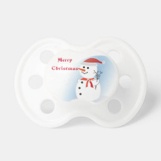 Pacifier  baby rustic merry Christmas snowman