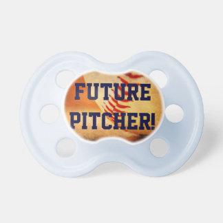 Pacifier Baseball Future Pitcher Blue