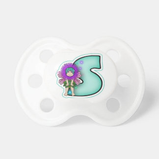 Pacifier Dummy Cute Fairy Initial Letter S