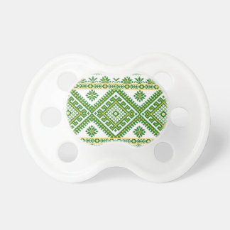 Pacifier Soother Ukrainian Print Embroidery