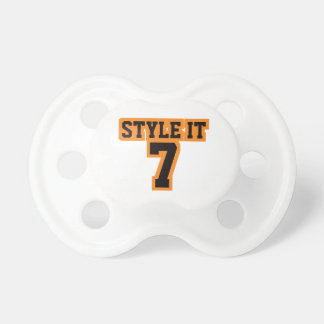 Pacifier WHITE BLACK ORANGE Football Jersey Baby