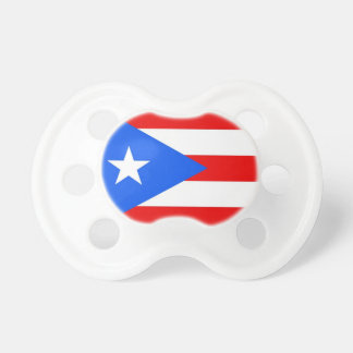 Pacifier with flag of Puerto Rico, U.S.A.