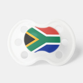 Pacifier with flag of South Africa