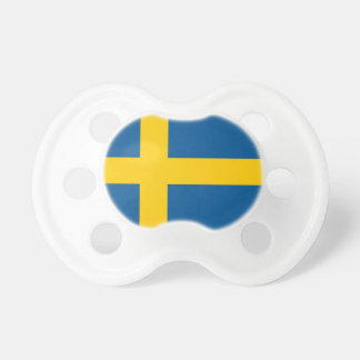Pacifier with flag of Sweden