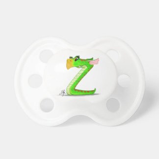 """Pacifier with """"Z"""" Monster Character"""
