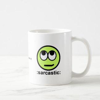 Pack dB: sarcastic: Basic White Mug