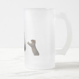 pack frosted penguin frosted glass beer mug