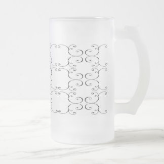 Pack glass frozen of style baroque frosted glass beer mug