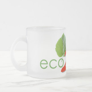 Pack logo eco- 2 wheels frosted glass mug