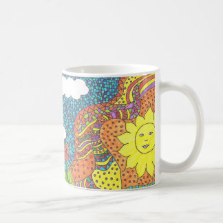 Pack mosaic bird in the sky coffee mug