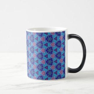 Pack MUG Jimette Design of mauve blue pink