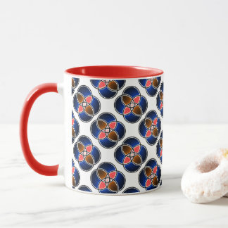 Pack MUG with the superb blue and white red design