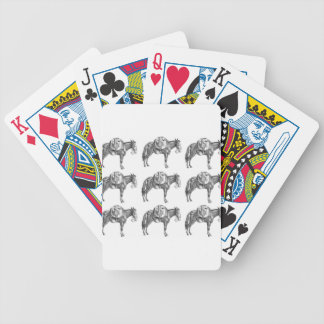 pack mule prayer bicycle playing cards