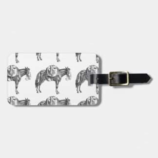 pack mule prayer luggage tag