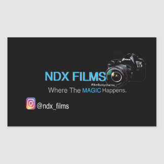 Pack of 4 NDX FILMS Stickers
