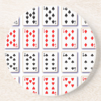 Pack of Cards On White Coaster