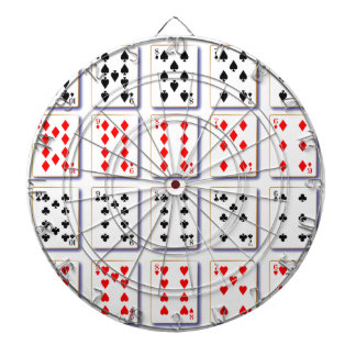 Pack of Cards On White Dartboard