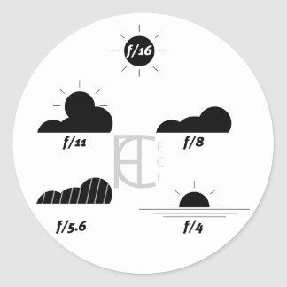 Pack of Sunny 16 stickers LIGHT