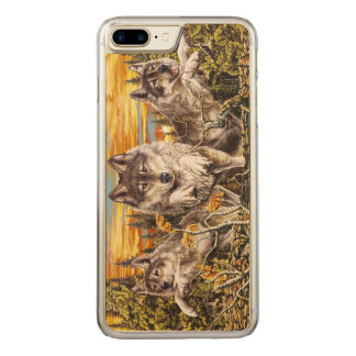 Pack of wolves running carved iPhone 8 plus/7 plus case
