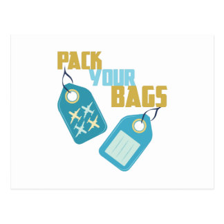 Pack Your Bags Postcard