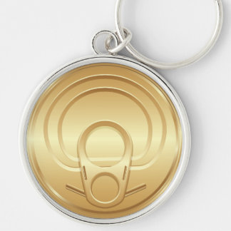 Package Tin Can Lid  Keychain