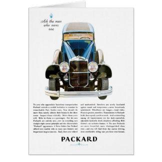 Packard Ad Card