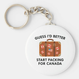 Packing For Canada Key Ring