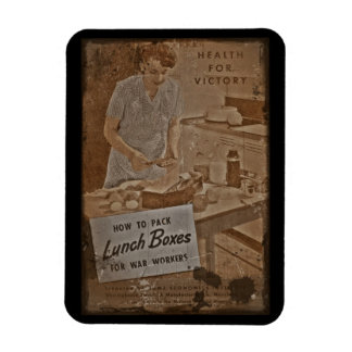 Packing Lunch Boxes WWII Magnet
