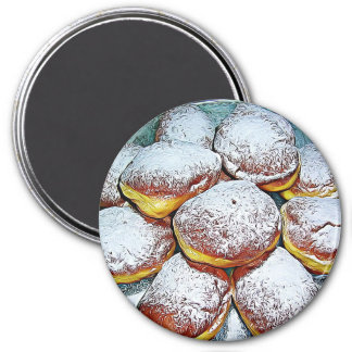 Pączki Day February 13th Food Holiday Button Magnet