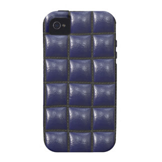 Padded Cell Walls Texture. Blue Leather Pattern Case-Mate iPhone 4 Cases