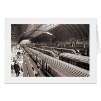 Paddington Station, London. Card