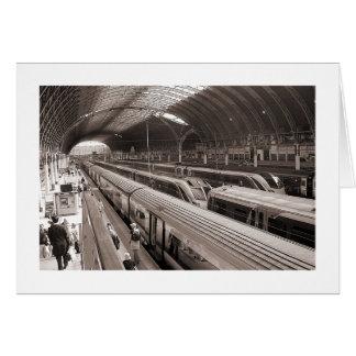 Paddington Station, London. Greeting Card