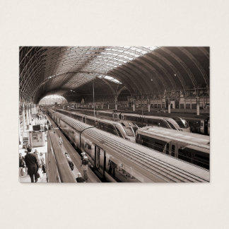 Paddington Station, London. Mini Photo Business Card