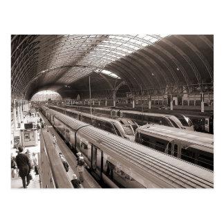 Paddington Station, London. Postcards