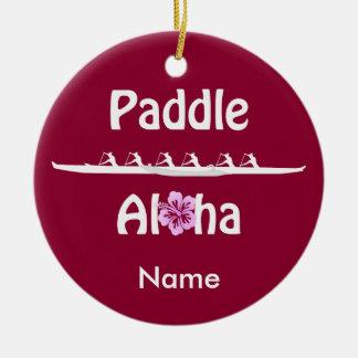 Paddle Aloha-Wahine Ceramic Ornament