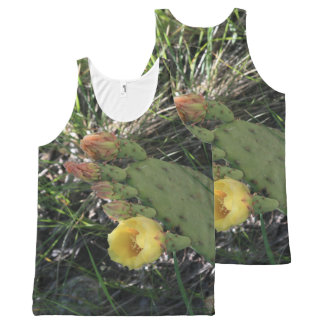 Paddle Cactus in Bloom All-Over Print Singlet