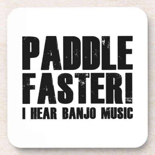 Paddle Faster I Hear Banjo Music Coasters
