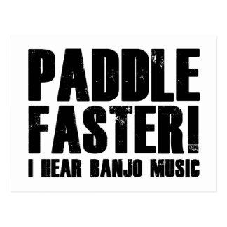 Paddle Faster I Hear Banjo Music Postcard