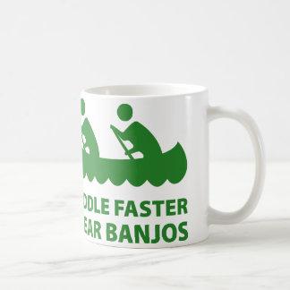 Paddle Faster I Hear Banjos Basic White Mug