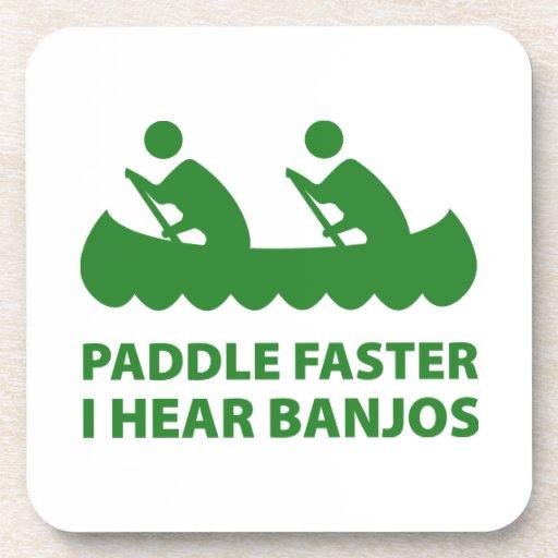 Paddle Faster I Hear Banjos Beverage Coasters