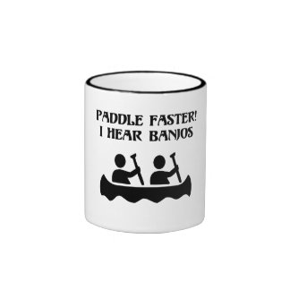 PADDLE FASTER, I HEAR BANJOS RINGER MUG