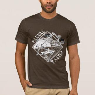 Paddle Faster Skeleton Canoe 2 T-Shirt