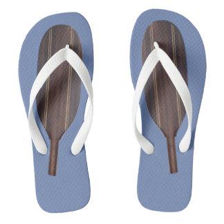 Paddle Flip Flops - Dark Wood