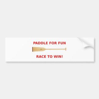 Paddle for Fun, Race to Win! Bumper Sticker