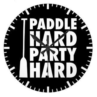 Paddle Hard, Party Hard Large Clock