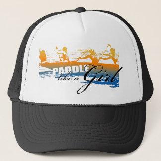 Paddle Like a Girl (black) Trucker Hat