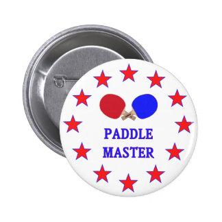 Paddle Master Ping Pong 6 Cm Round Badge
