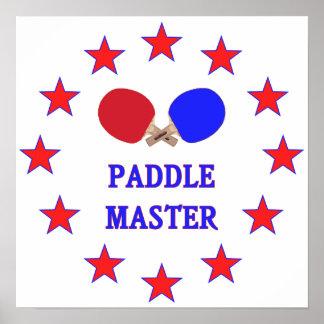Paddle Master Ping Pong Print